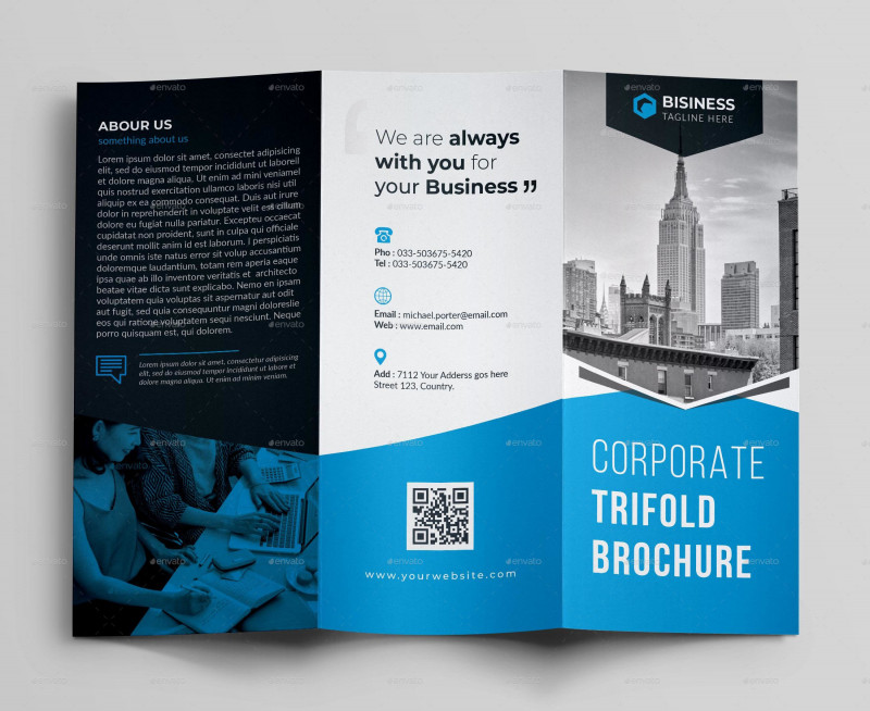 Brochure 3 Fold Template Psd Awesome 50 Premium Free Psd Tri Fold Brochureb Templates For Business And