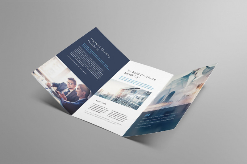 Brochure 3 Fold Template Psd Awesome Tri Fold Brochure Mockup by Genetic96 On Envato Elements