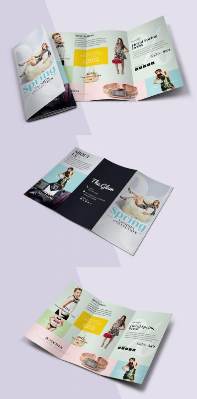 Brochure 3 Fold Template Psd Unique Flyer Gestalten Vorlagen Unique Fashion Tri Fold Brochure Template