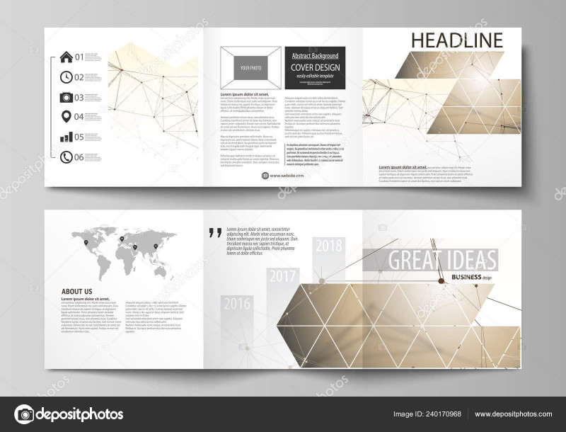 Brochure 4 Fold Template Awesome Business Templates for Tri Fold Square Design Brochures Leaflet