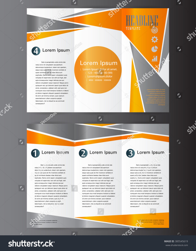 Brochure 4 Fold Template New Professional Business Three Fold Flyer Template Stock Photo Edit