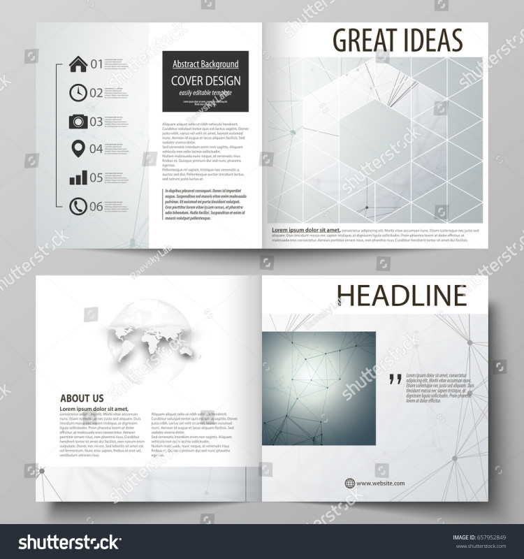 Brochure 4 Fold Template Unique Business Templates Square Design Bi Fold Stock Vector Royalty Free