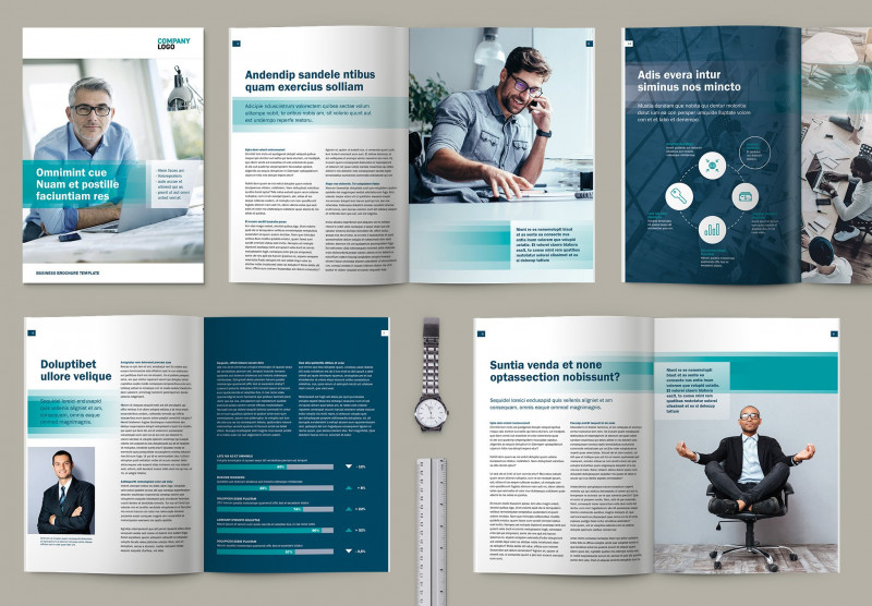 Brochure Folding Templates Awesome A4 Business Brochure Design Template Brochure Templates Creative
