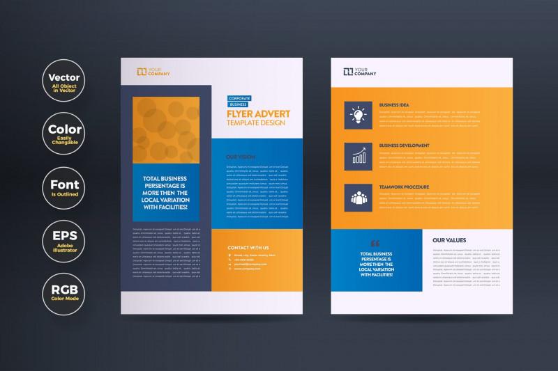Brochure Folding Templates New Business Flyer Advert Design Flyer Templates Creative Market