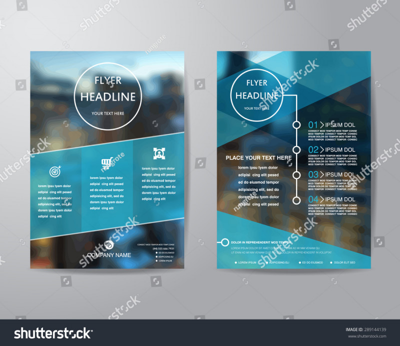 Brochure Folding Templates Unique Business Brochure Flyer Design Layout Template Stock Vektorgrafik