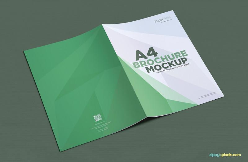Brochure Psd Template 3 Fold Awesome A4 Brochure Mockup Free Psd Download Zippypixels