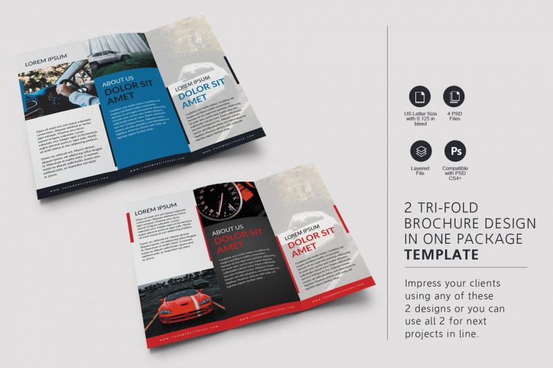 Brochure Psd Template 3 Fold Awesome Car Tri Fold Brochure Brochure Templates Creative Market
