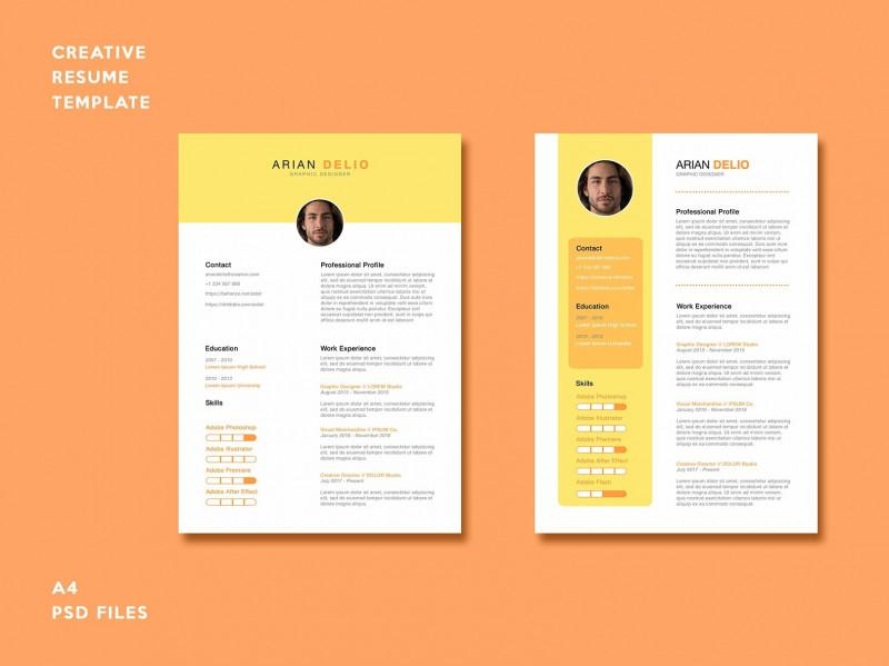 Brochure Templates Adobe Illustrator Unique Creative Resume Template by Resume Templates On Dribbble