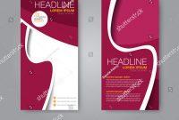 Brochure Templates Adobe Illustrator Unique Vector Flyer Leaflet Design Set Two Stock Vector Royalty Free