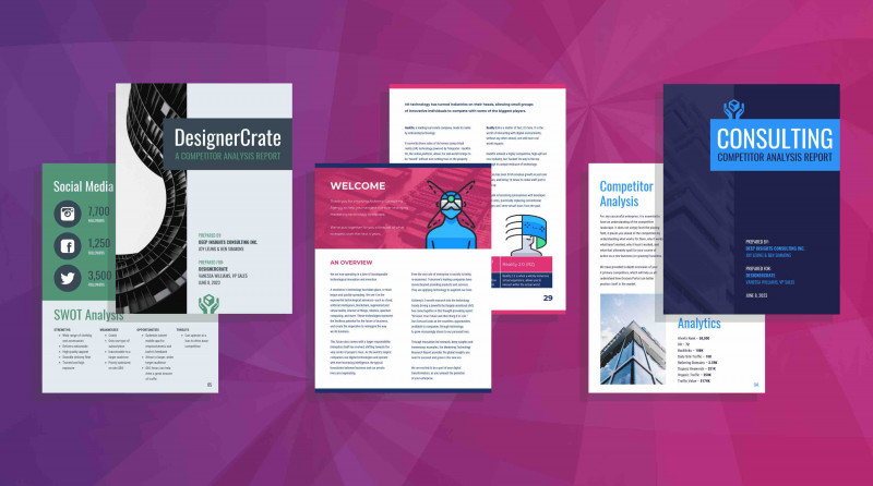 Brochure Templates for School Project Awesome 19 Consulting Report Templates that Every Consultant Needs Venngage