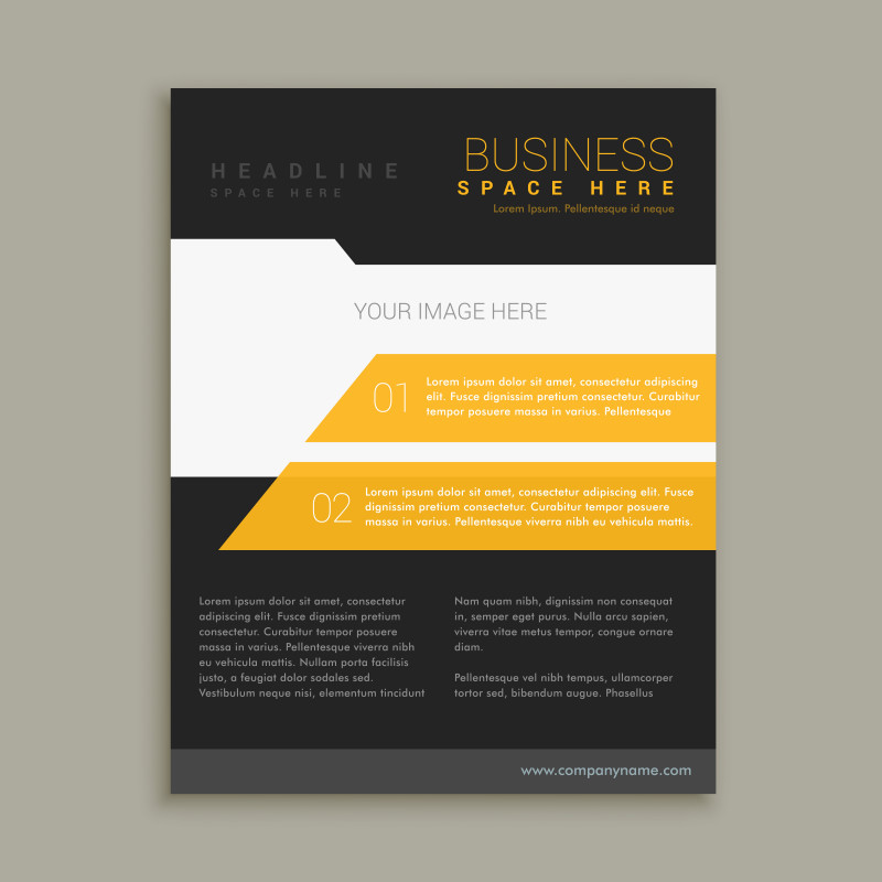 Commercial Cleaning Brochure Templates Awesome Yellow and Black Business Brochure Flyer Poster Template