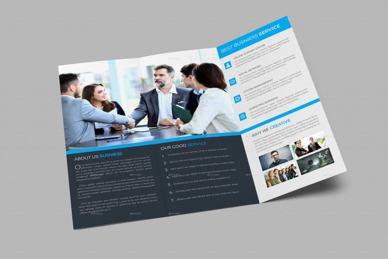 Double Sided Tri Fold Brochure Template New Pages Brochure Template Basic Business Tri Fold Brochure Templates