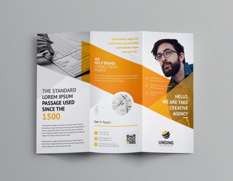 Fancy Brochure Templates New Cerberus Corporate Tri Fold Brochure Template 001158