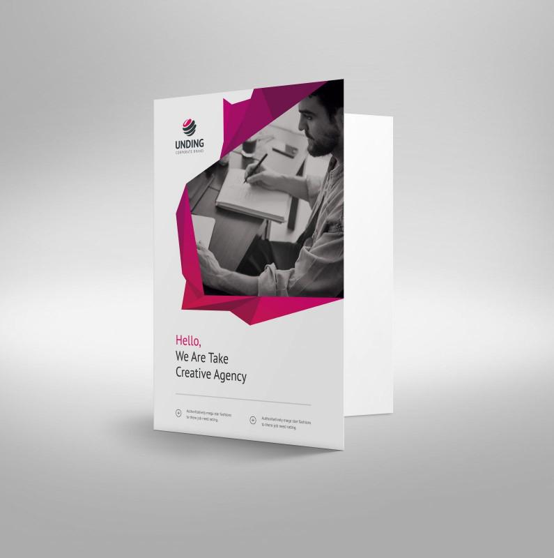 Fancy Brochure Templates Unique Fancy Modern Corporate Presentation Folder Template 001225 Graphic