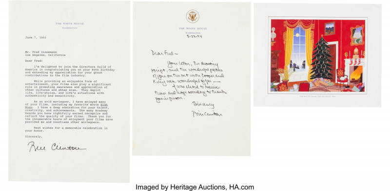 Film Festival Brochure Template Awesome Bill Clinton Autograph Letter Signed Typed Letter with An Autopen