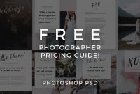 Free Illustrator Brochure Templates Download Awesome Free Photographer Pricing Guide Template Signature Edits Edit
