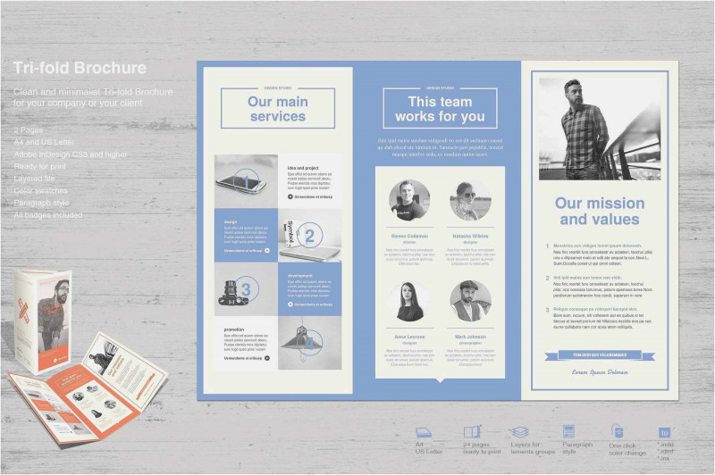 Free Online Tri Fold Brochure Template New Free Collection 54 Free Tri Fold Brochure Templates Free Download