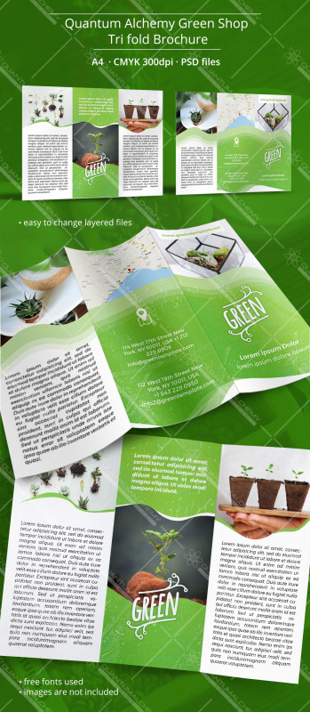 Free Tri Fold Business Brochure Templates New Quantum Alchemy Green Shop Tri Fold Brochure Quantum Alchemy It
