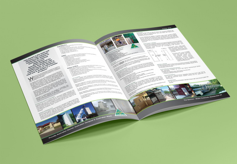 Gate Fold Brochure Template Awesome Brochure Design Lift Company Cora Michele Design