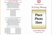 Memorial Brochure Template Awesome Funeral Program Template Word Free Awesome Free Funeral Program