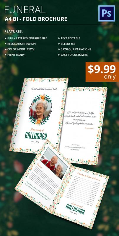 Memorial Brochure Template New 37 Funeral Program Brochure Templates Psd Ai Word Free