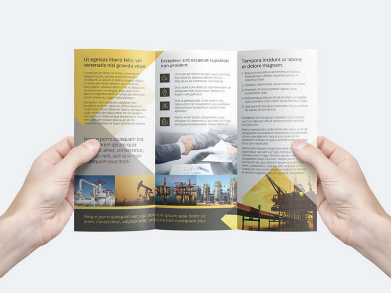 One Sided Brochure Template Awesome Free Trifold Business Flyer Template