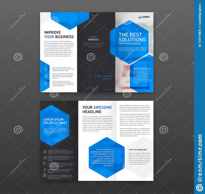 Pharmacy Brochure Template Free Awesome Pharmaceutical Brochure Tri Fold Template Layout with Icons Set