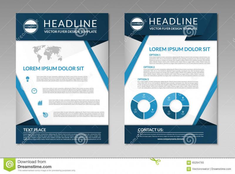 Professional Brochure Design Templates Unique 006 Business Brochure Flyer Design Template Size Leaflet Front Back