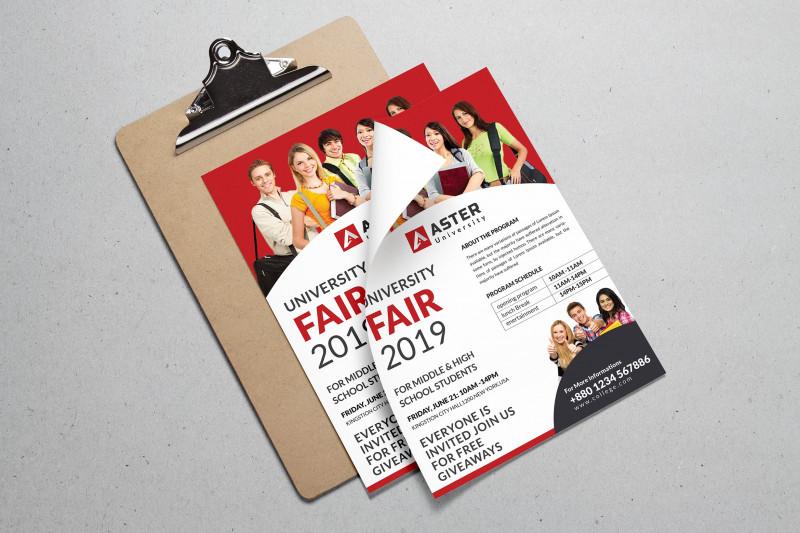 School Brochure Design Templates Awesome University Fair Flyer Flyer Templates Creative Market