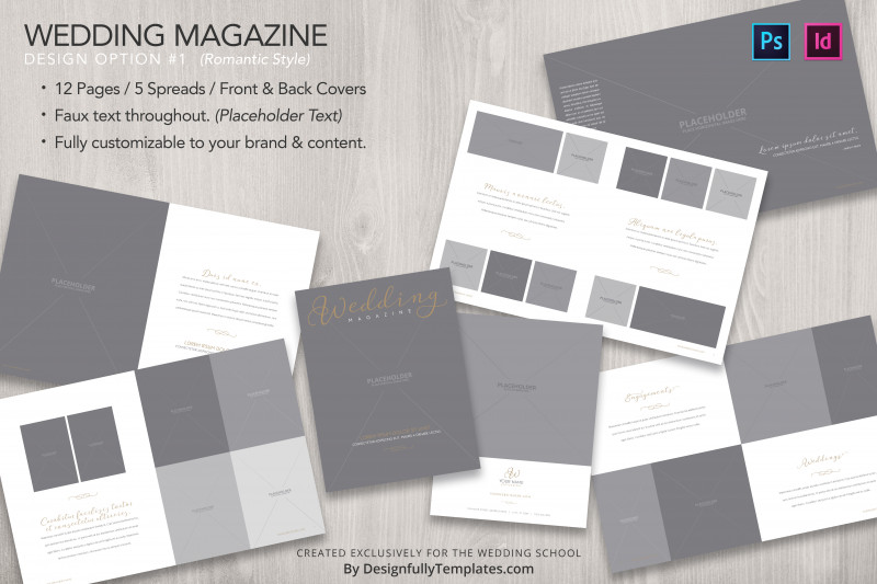 School Brochure Design Templates New Templates For Wedding Photographers Bundle The Wedding School