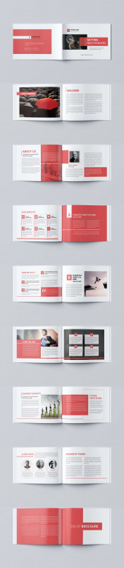 Single Page Brochure Templates Psd Awesome Minimal Business Brochure Template Psd Brochure Templates