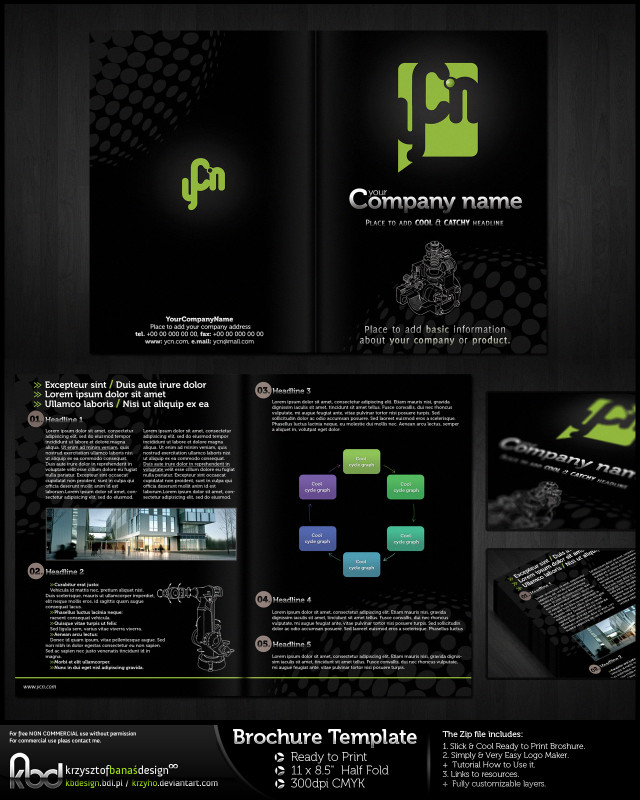 Single Page Brochure Templates Psd Unique 12 attention Grabbing Bi Fold Brochure Free Psd Templates