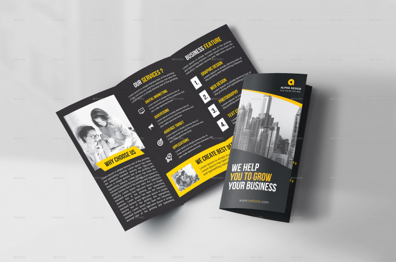Three Panel Brochure Template Unique 45 Premium Ree Psd Professional Bi Fold and Tri Fold Brochure