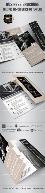 Three Panel Brochure Template Unique Business Free Tri Fold Brochure Psd Template by Elegantflyer