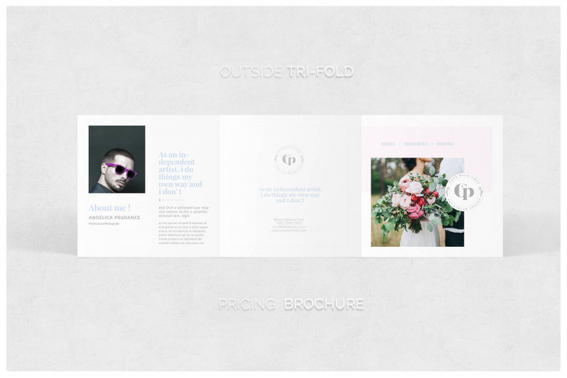 Tri Fold Brochure Ai Template Awesome Photography Pricing Brochure Square Trifold Template Price Etsy