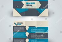 Tri Fold Brochure Template Illustrator Free New Brochure Template Business Trifold Flyer Creative Stock Vector