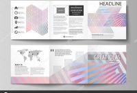 Tri Fold Brochure Template Illustrator Free New Set Of Business Templates for Tri Fold Square Brochures Leaflet