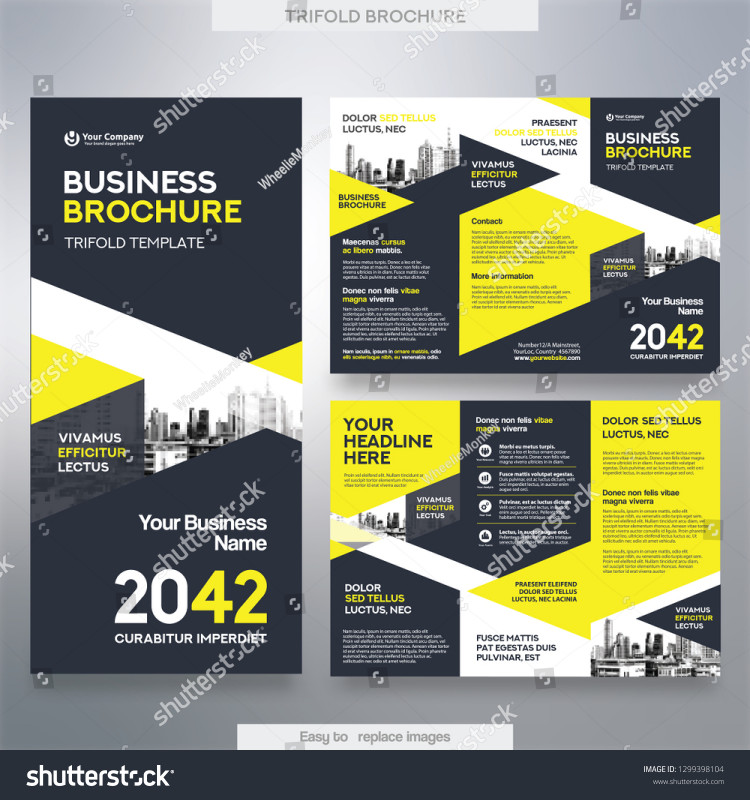 Tri Fold School Brochure Template Awesome Business Brochure Template Tri Fold Layout Stock Vector Royalty