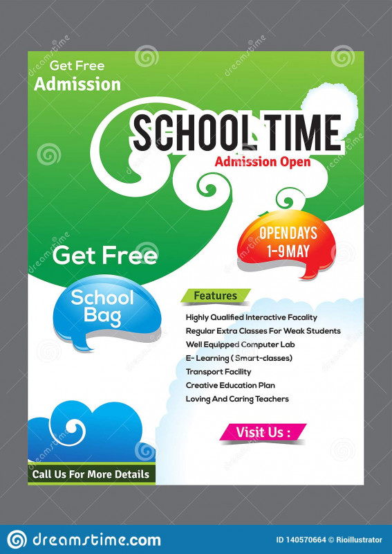 Tri Fold School Brochure Template Awesome School Flyer Design Template Stock Vector Illustration Of Graphic