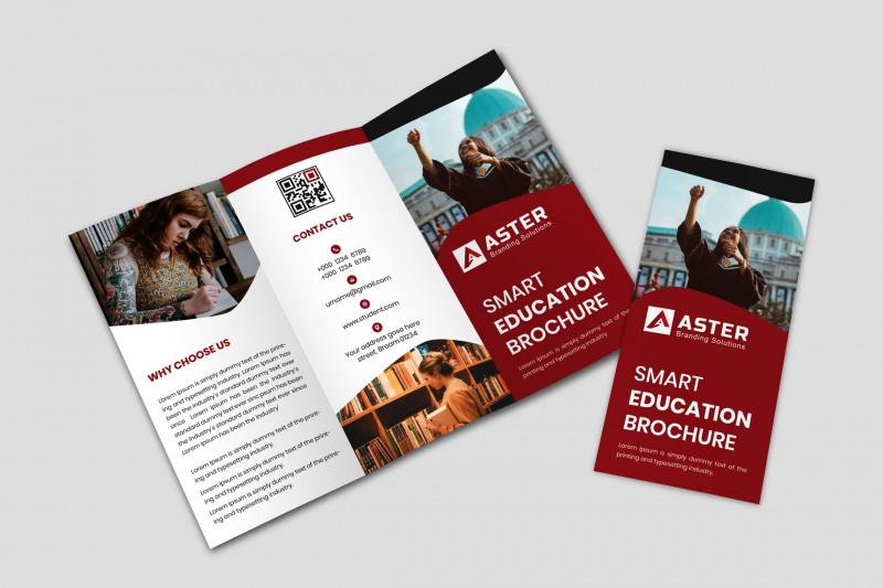 Tri Fold School Brochure Template New Education Tri Fold Brochure Templates Creative Market