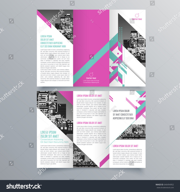 Tri Fold School Brochure Template Unique Brochure Design Brochure Template Creative Trifold Stock Vector