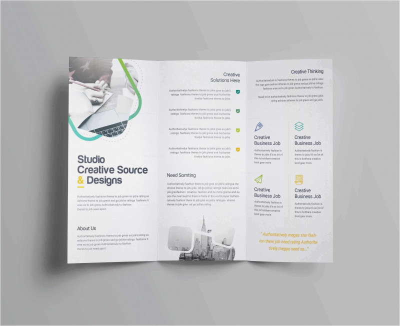 Two Fold Brochure Template Psd Awesome Free Collection 55 Tri Fold Brochure Template 2019 Free