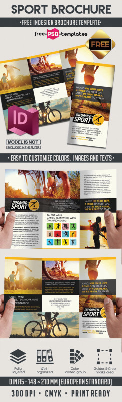 Two Fold Brochure Template Psd Awesome Sport Free Indd Tri Fold Brochure Template Free Psd Templates