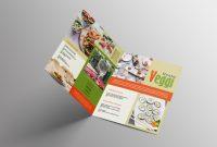 Two Fold Brochure Template Psd Unique Vegan Menu Bifold Brochure A3 Ai Psd Templates
