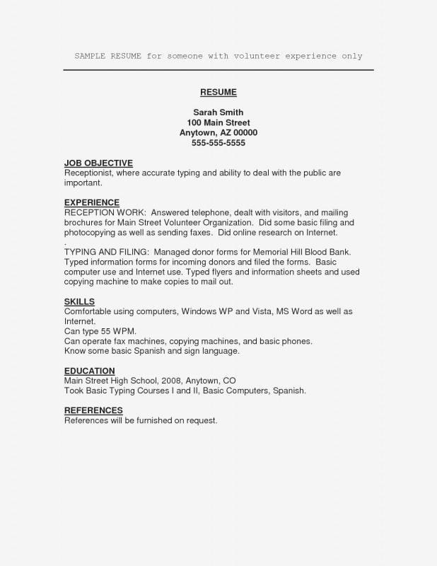 Volunteer Brochure Template Unique New Resume Volunteer Experience Sample atclgrain