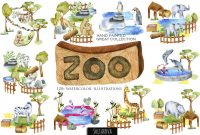 Zoo Brochure Template New Zoo Big Watercolor Collection