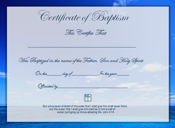 Baptism Certificate Template Word 4