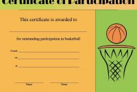 Basketball Camp Certificate Template 0