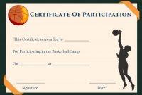Basketball Camp Certificate Template 2
