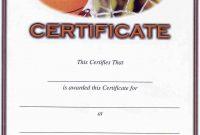 Basketball Camp Certificate Template 3